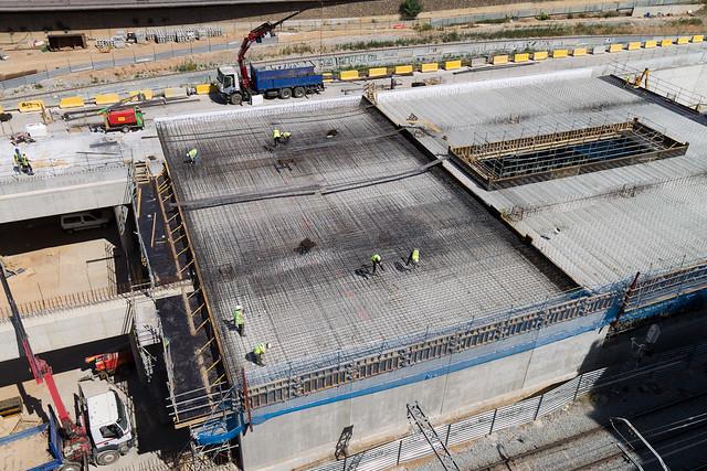 Forjado de la cubierta de la nueva estación de Sant Andreu - 20-06-12
