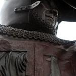 Bronze figure at Alnwick