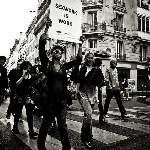 Sex workers protest by Yann Beauson
