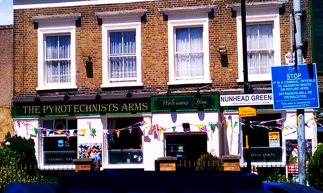 The Pyrotechnists Arms pub in Peckham. AKA, where all the IRA bomb makers hung out.