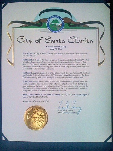 City of Santa Clarita Proclamation