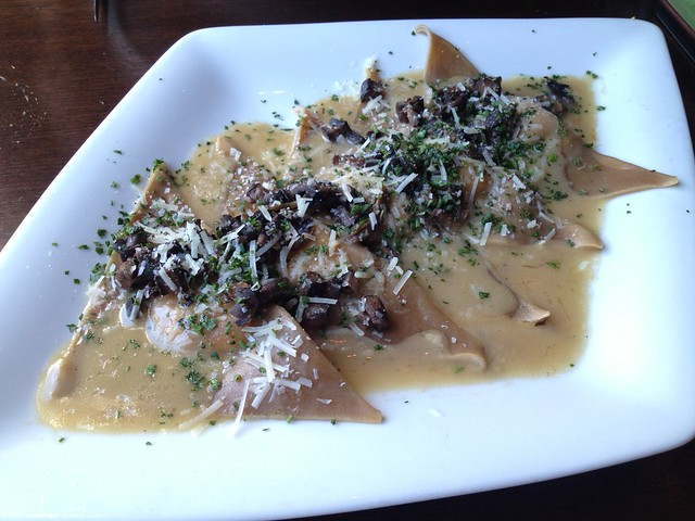 Wild mushroom ravioli - Eureka Restaurant and Lounge