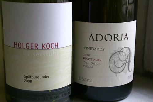 Holger Koch Kaiserstuhl Spatburgunder 2008 vs Winnica Adoria Pinot Noir 2010