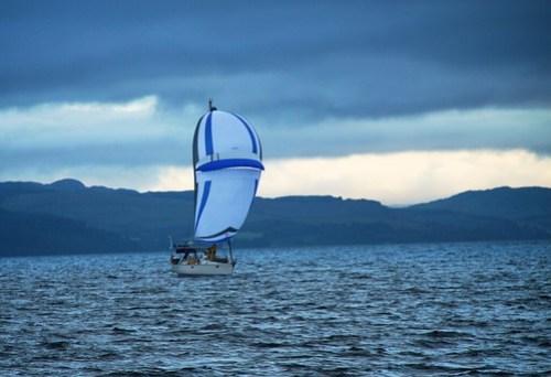 Endelig litt medvind for Fryd i Irskesjøen... (foto Caspara)