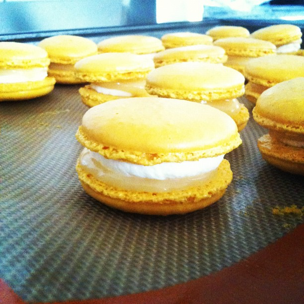 Lemon mascarpone macarons done.