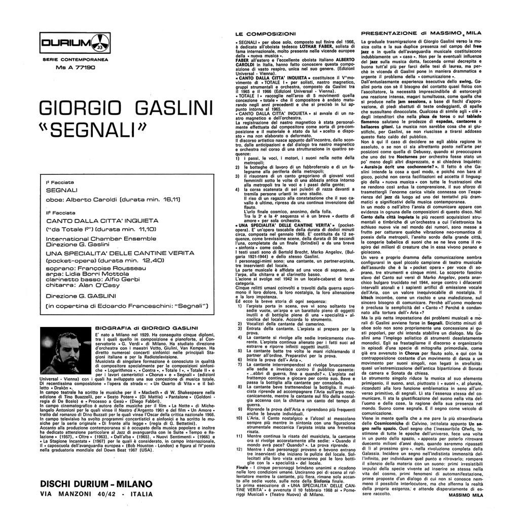 Giorgio Gaslini - Segnali