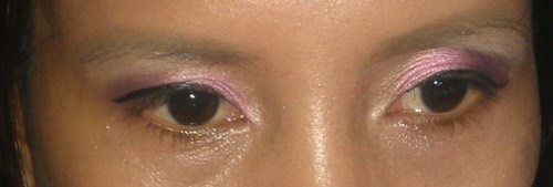 Eye makeup using Shu Uemura and Revlon