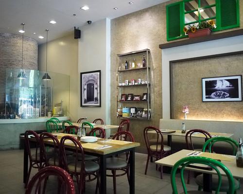 Inside Tuscano Italian Wood Oven Pizza & Restaurant