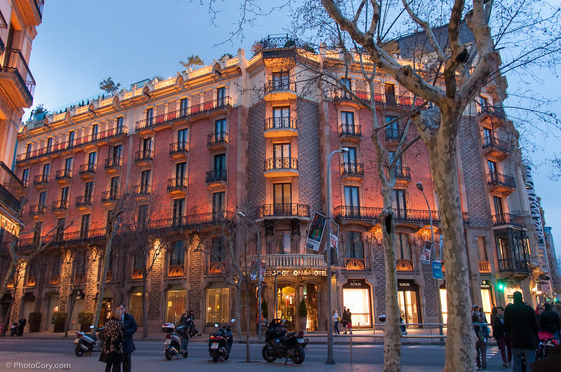 evening in Barcelona on Passeig de Gràcia