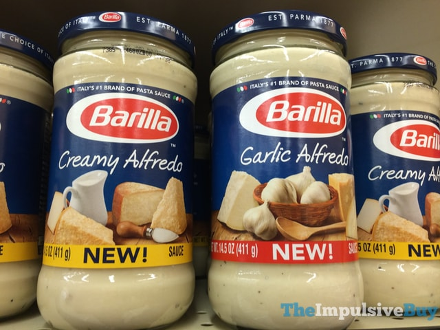 Barilla Creamy Alfredo and Garlic Alfredo Sauces