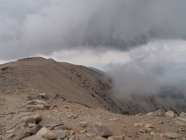 Clouds on San Gorgonio