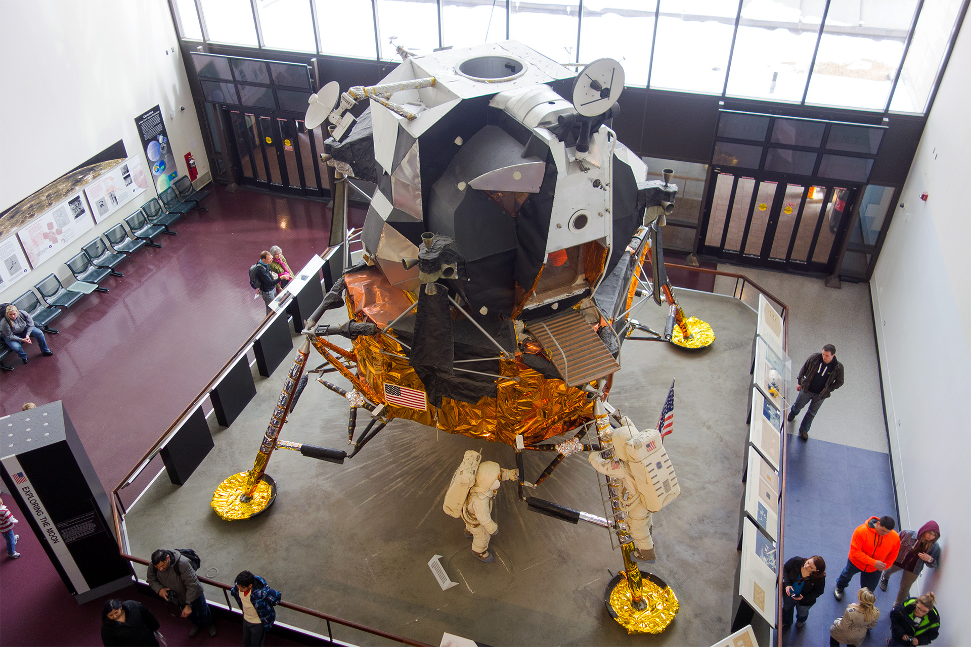 Space capsule, Smithsonian National Air & Space Museum.