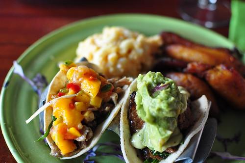Jerk Chicken and Calypso Beef Tacos - The Rum House, NOLA