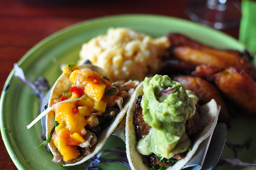 Jerk Chicken and Calypso Beef Tacos - The Rum House, NOLA