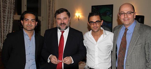 Jonathan Hayoun (Président UEJF), Alexis Chahtahtinsky (Consul Général de France à Cracovie en Pologne), Arash Derambarsh, Allen S. Greenberg (Consul Général des Etats-Unis d'Amérique à Cracovie en Pologne) by Arash Derambarsh