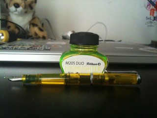 Pelikan m205 Duo, with ink