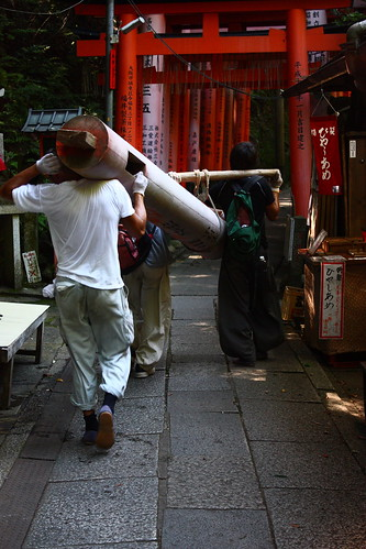 Moving a torii
