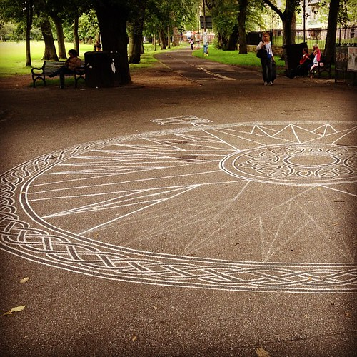 Day 252 of Project 365: Chalk Compass