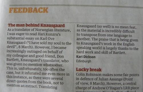 Kari Dickson letter