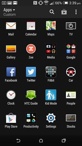 App tray ของ HTC One M8