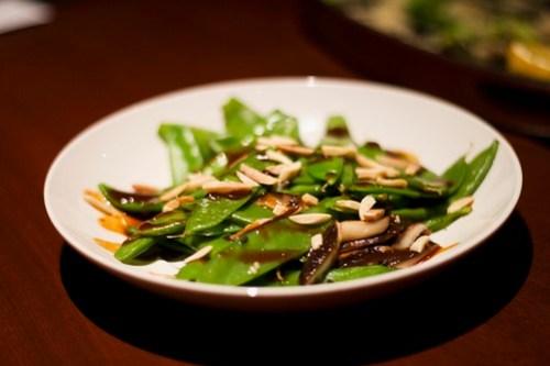 spicy snow peas & shiitake mushrooms