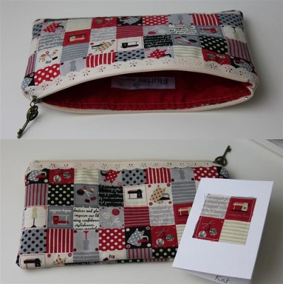 Another lace Zipper Pouch...