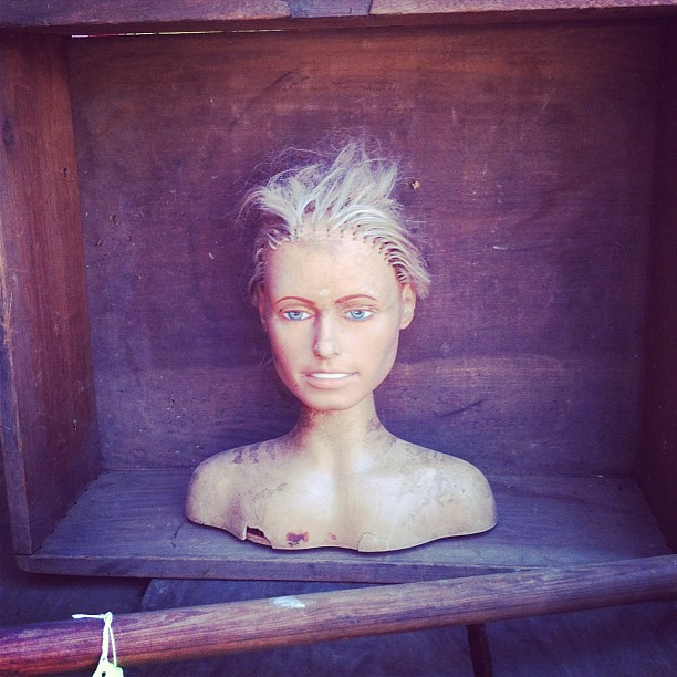 I love the flea market, but this is creepy as shit