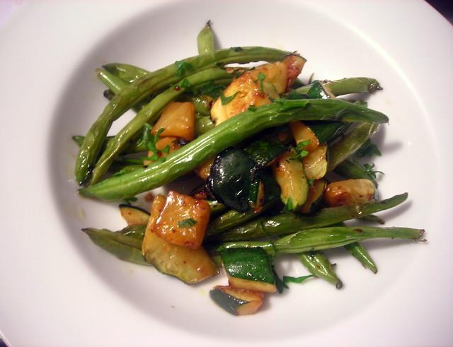Fagiolini e zucchine