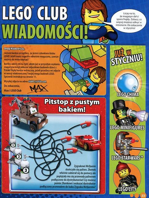 LEGO Club Magazine: okładka i przykładowe strony