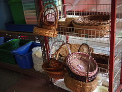Rattan and bamboo baskets, Victoria Street Wholesale Market