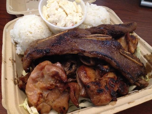 BBQ mix plate - L&L Hawaiian Barbecue