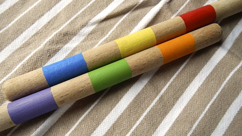 Rainbow Wooden Spoons 10