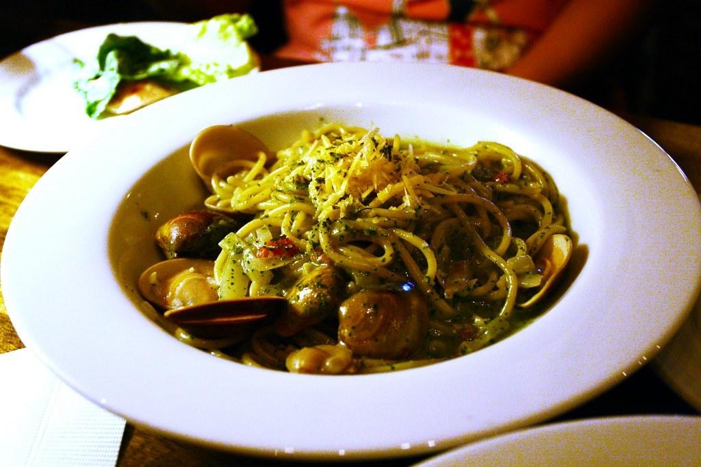 青醬蛤蜊義大利麵