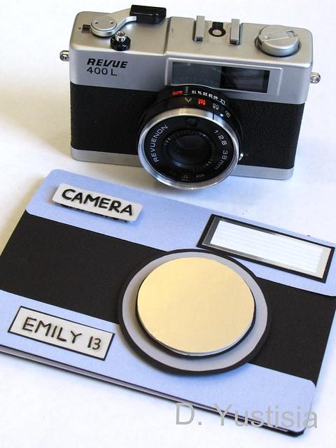 Vintage camera & vintage camera card