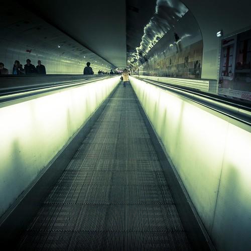 Urban Mythologies : Pathway to Hell (Metro Montparnasse, Paris) - Photo : Gilderic