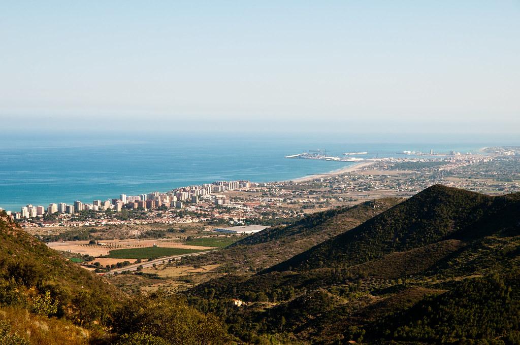 Benicassim y Grao de Castellón desde el desierto de las palmas