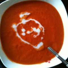 Home made gf and df cream of tomato soup, if anyone want the recipe I'll post it on my blog in a few days