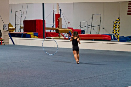 chasing the hula hoop