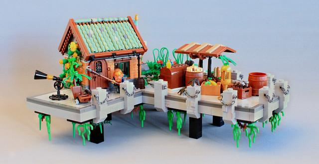 The Harbor - nouvelle technique toits LEGO