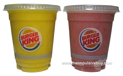 Burger King Smoothies (Tropical Mango and Strawberry Banana)