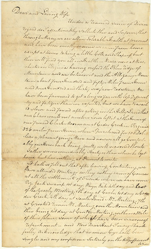 Horton Howard to Mary (Dew) Howard, 1799, pg 1 of 2