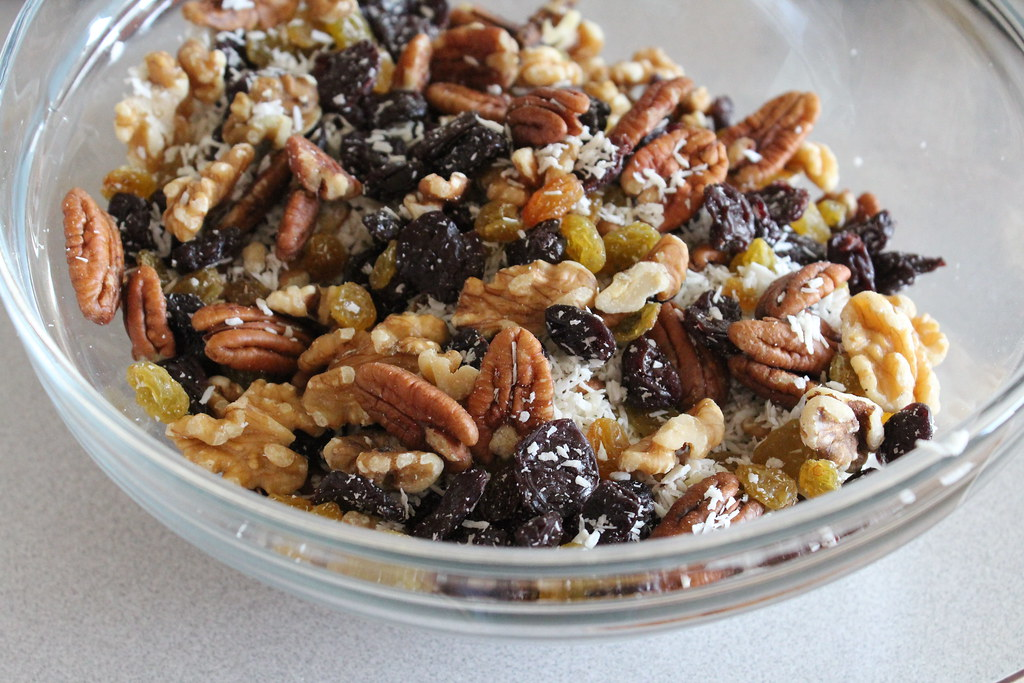 the dried fruit and nuts