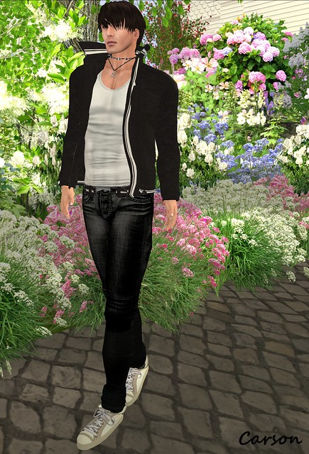 JCS Creations - Black & White Pants and Jacket, White Tank