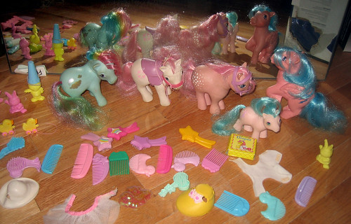 20120603 - yardsale booty - 9 - lots of My Little Pony stuff - IMG_4331