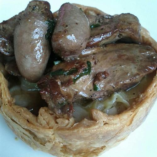 Chicken liver tart at Lawrence