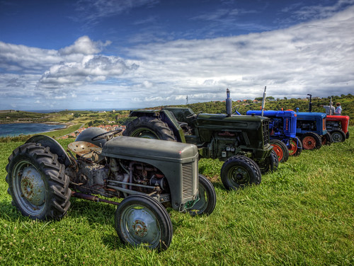 Evolution of the Tractor, at Cavalcade day-Alderney