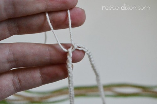 Crocheted Necklace Tutorial Step 6