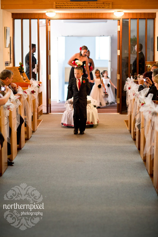 Melanie & Blake Wedding - ring bearer wagon