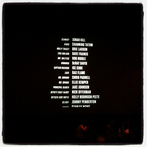 End credits for 21 Jump St! I luv Channing!