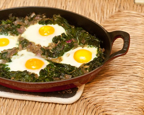 Eggs Baked over Wilted Spinach (6 of 6)